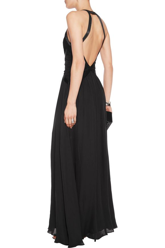 Marvella ruched silk maxi dress | L'AGENCE | Sale up to 70% off | THE OUTNET