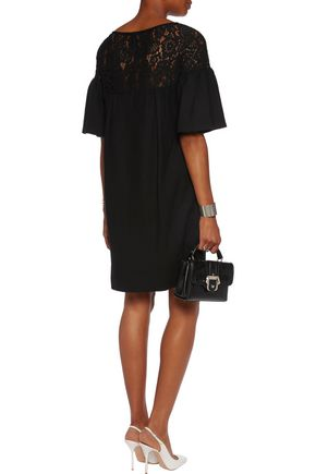 GOAT Guipure lace-paneled wool dress