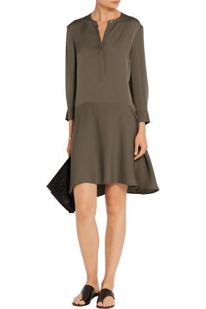 THEORY Carstan silk crepe de chine mini dress