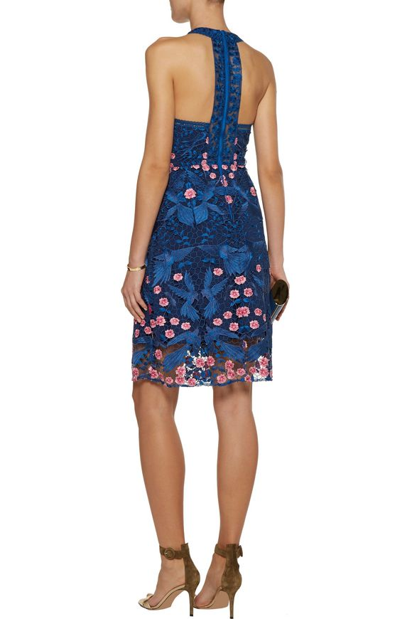 Open knit-trimmed lace dress   MARCHESA NOTTE   Sale up to 70% off   THE  OUTNET