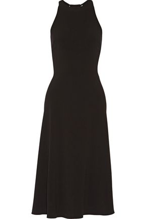 HALSTON HERITAGE Cutout stretch-crepe midi dress