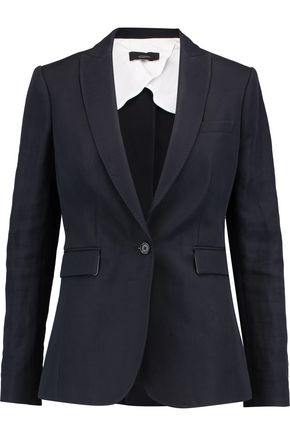 JOSEPH Lady ramie and cotton-blend blazer