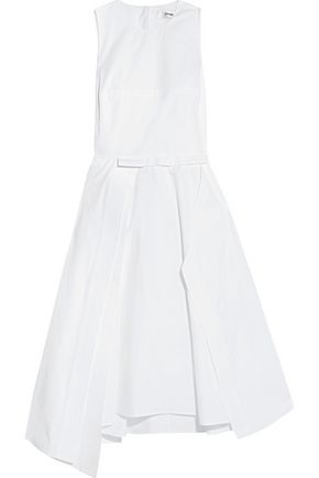 CHALAYAN Asymmetric cotton-poplin dress