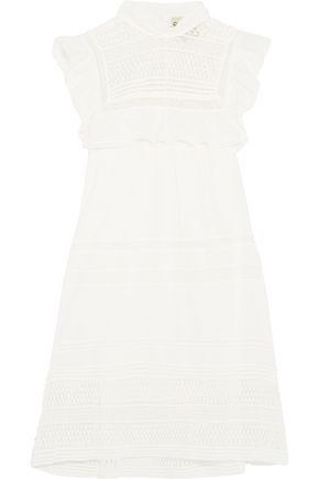 SEA Embroidered cotton mini dress