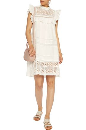 SEA Embroidered cotton mini dress