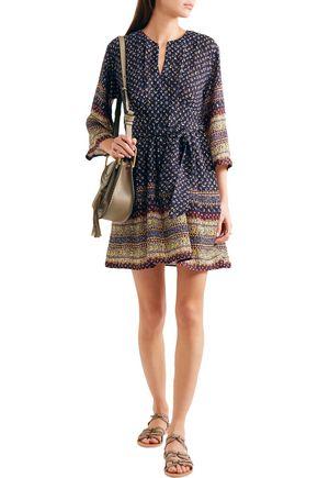 SEA Printed silk mini dress