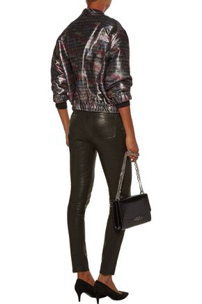 IRO Zina metallic cotton-blend bomber jacket