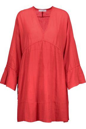 IRO July gathered gauze mini dress