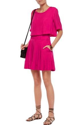 IRO Felly layered voile mini dress
