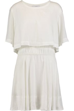 IRO Felly layered voile mini dress