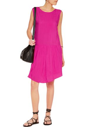 IRO Olivia pleated sateen dress