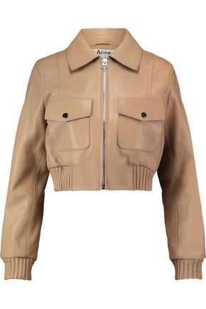 ACNE STUDIOS Ferdie cropped leather biker jacket