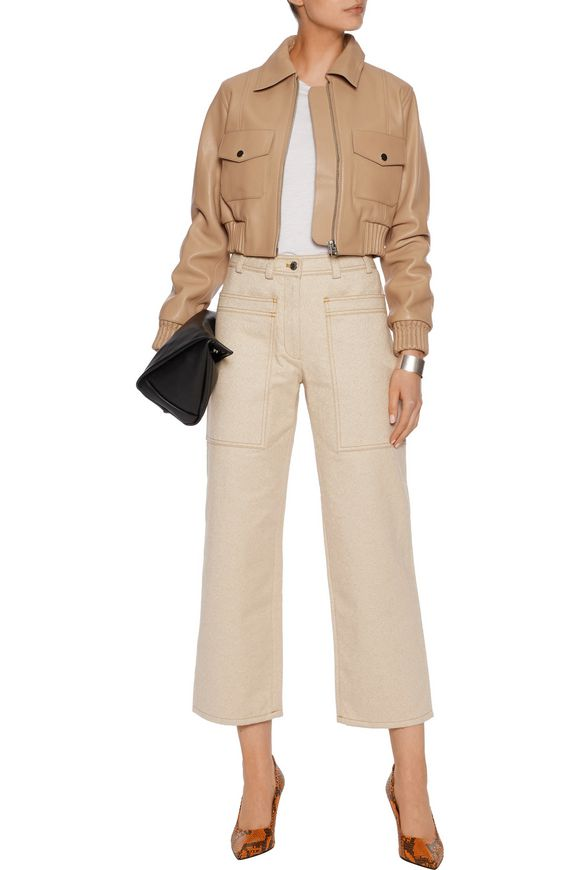 Ferdie cropped leather biker jacket | ACNE STUDIOS | Sale up to 70% off |  THE OUTNET