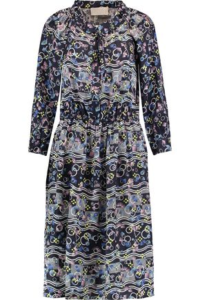 PETER PILOTTO Paros printed silk-jacquard dress