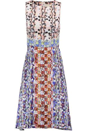 PETER PILOTTO Asymmetric printed silk-satin dress