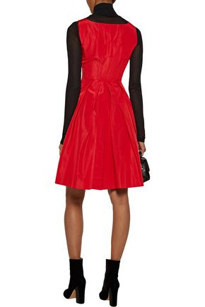 MARC BY MARC JACOBS Taboo pleated silk and cotton-blend satin dress