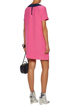 MARC BY MARC JACOBS Bowery two-tone pleated silk crepe de chine mini dress