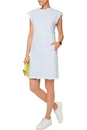 MARC BY MARC JACOBS Frayed denim mini dress