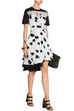 MARC BY MARC JACOBS Blurred Dot stretch-cotton poplin mini dress