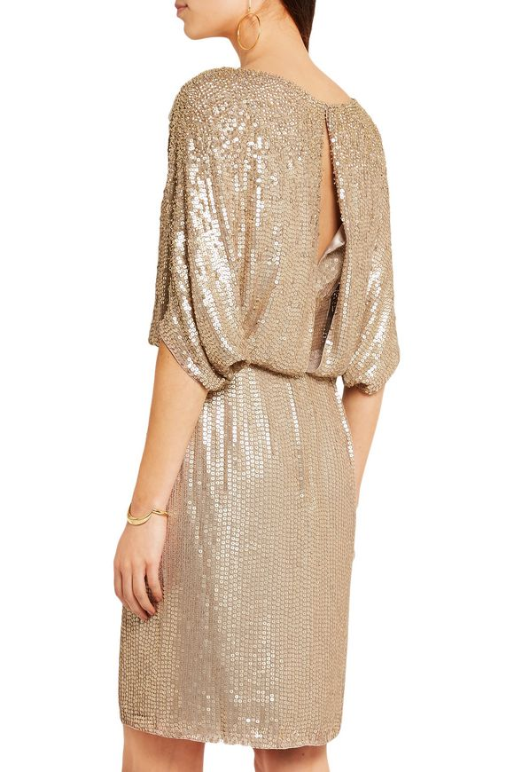 Cape-effect sequined silk mini dress | JENNY PACKHAM | Sale up to 70% off |  THE OUTNET