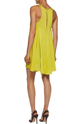 MILLY Silk-blend crepe de chine mini dress
