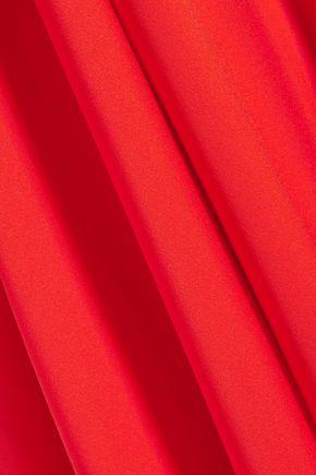 MILLY Silk-blend crepe de chine mini dress