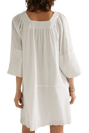 APIECE APART Tewa embroidered cotton-gauze dress