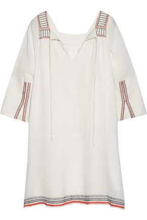 APIECE APART Tewa embroidered cotton-gauze dress