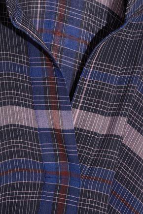 APIECE APART Namina checked voile shirt dress