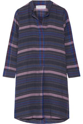 APIECE APART Namina checked voile shirt dress