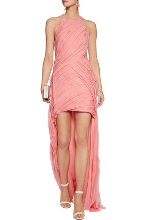 HALSTON HERITAGE Halston pleated georgette gown