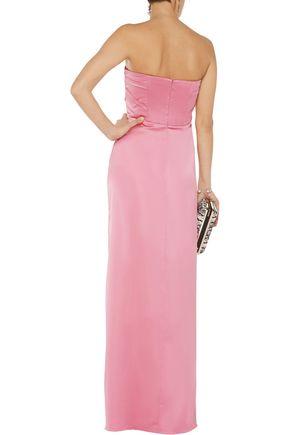 HALSTON HERITAGE Strapless satin gown