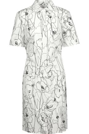 JASON WU Layered printed cotton-blend twill mini dress