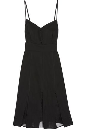 JASON WU Silk organza-paneled wool dress