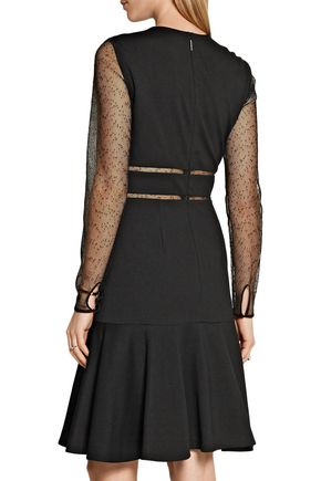 JASON WU Mesh-paneled stretch-ponte dress