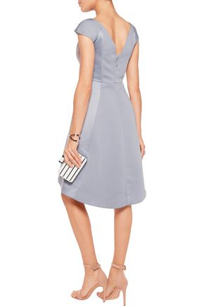 HALSTON HERITAGE Faille and duchesse-satin dress