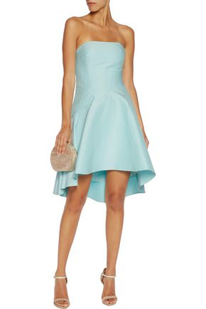 HALSTON HERITAGE Cotton and silk-blend dress