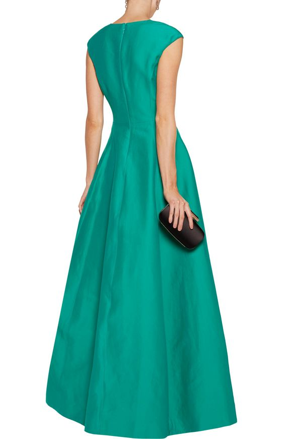 Cotton and silk-blend faille gown | HALSTON HERITAGE | Sale up to 70% off |  THE OUTNET