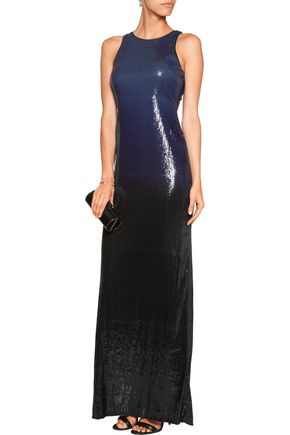 HALSTON HERITAGE Sequined crepe gown