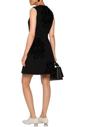 SIMONE ROCHA Crystal-embellished devoré faille mini dress
