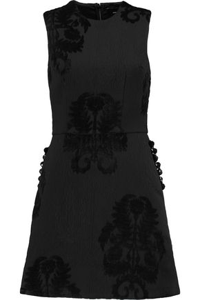 SIMONE ROCHA Crystal-embellished devoré faille mini dress