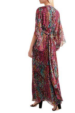 MATTHEW WILLIAMSON Ruffled printed silk dress