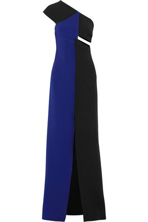 SAFIYAA One-shoulder cutout jersey gown