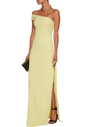 SAFIYAA One-shoulder asymmetric crepe gown
