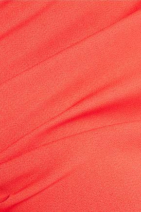 SAFIYAA Organza-paneled crepe gown