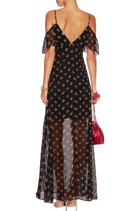 NEEDLE & THREAD Prairie Ditsy printed crepe dress