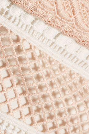 REBECCA VALLANCE Testa open-back guipure lace dress