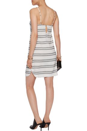 REBECCA VALLANCE Jupiter paneled crepe mini dress