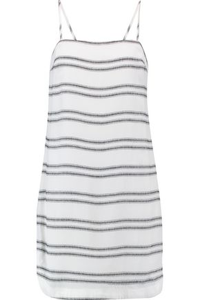 REBECCA VALLANCE Jupiter paneled crepe mini dress
