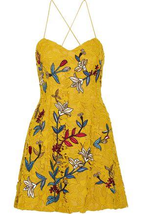 SACHIN & BABI Covent embroidered guipure lace mini dress